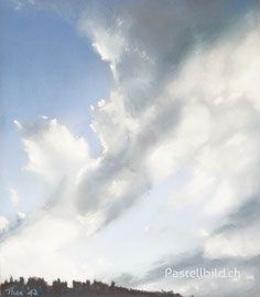 Wolken, kunst, orginale, Thea Herzig, kunstler