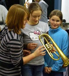 Bild Blaskapelle Meeder - Flügelhorn erklärt
