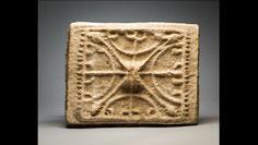 Ancient Menorah, rectangular, decorated, slab, Mediterranean, Great Britain, Menora