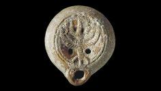 Ancient oil lamp menorah, Jewish, terracotta, roman period, Christie's, menora