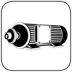 Sägeflachmotor Holzbearbeitung Icon