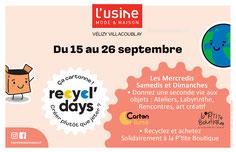 Opération Recycl'Days - L'Usine Mode & Maison - Vélizy-Villacoublay.