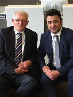 DUS Cargo is headed by a Dutch-Iranian duo. Gerton Hulsman (left) and his new M&S manager Ali Babolsari.