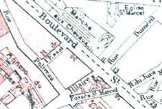 Carte quartier fin 19ème siècle