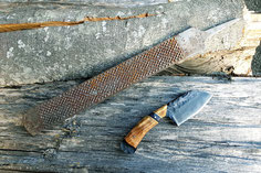 Messer aus Feile