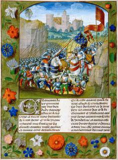 Miniature extraite de la Chronique d'Enguerrand de Monstrelet.Wimedia