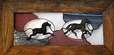 Rick Carney artifact art underwater treasure stained glass art