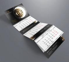 Печать квартальных календарей, квартальные календари, квартальные календари с логотипом, фирменные квартальные календари.