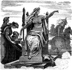 Frigg und ihre Dienerinnen