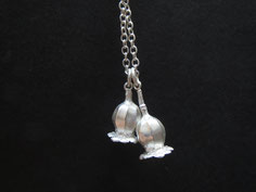 Mohnblüten Silber massiv Schmuckanhänger