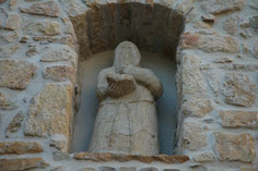 façade de la chapelle des Pénitents à Alzon (30)