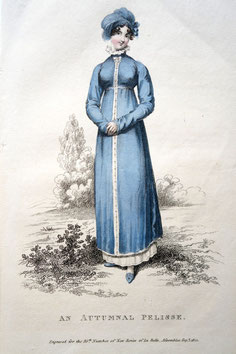 An Autumnal Pelisse, La Belle Assemblee, September 1st 1812. picture by Nina Möller