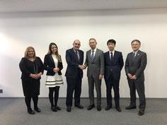 OBTと上智大学のMoU締結(学長、学生総務担当副学長、学生センター長)