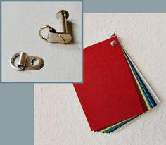Aufhängeösen für Buchschrauben
