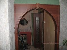 Установка арки. Фото.