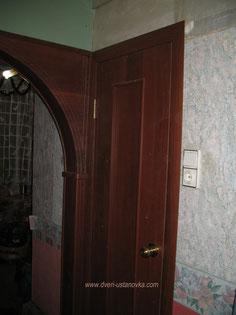Межкомнатная (сантехническая) дверь.