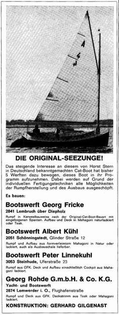 Hersteller der Seezunge aus 1971