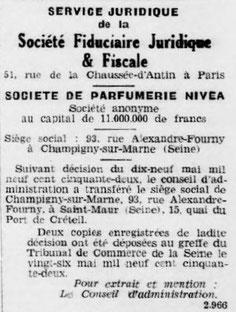 Extrait de journal du 24 mai 1952