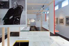 Vue de l'exposition Dilasser, le dessin  au musée des beaux-arts de Brest.  © Mathieu Le Gall
