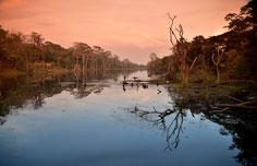 Abendstimmung bei Angkor Thom