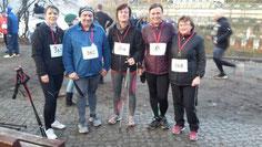 Die Laufgruppe vom Allgem. Hundesportverein Falkensee mit Nordic Helmut