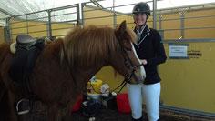 Katharina mit Rusina auf dem Trainerkurs
