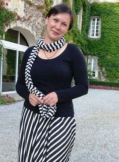 Daria, lors d'un concert au chateau Carbonnieux (F. Bergougnoux)