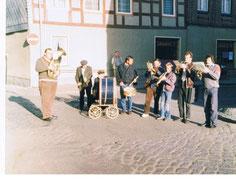 Gründungmitglieder 01.05.1990 Bernd Dittebrandt, Rudi Wegner, Willi Drews, Thomas Rolle, Harald Matthies, Christoph Schorlemmer, J. Joachim Schorlemmer und Rüdiger Haase (v.l., es fehlt Rudolf Duffe)