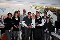 Ehrung der Clubmeister (auf dem Bild von links): Gerd Riss, Sabine Röck, Meinrad Gast, Roland Röck, Andras Roth, Nina Prinz, Jürgen Oberem, Gerhard Stör, Matthias Ried und Patrick Frick.