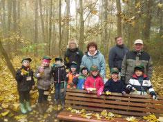 """Die """"Waldfüchse"""" aus dem Kindergarten """"Knirsenland"""" Schönebeck (Foto: Emily Engels)"""