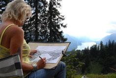 Malen in einer einzigartigen Bergwelt