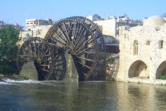 syrisches Wahrzeichen - Wasserrad in Hama