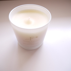 The fragranced candle