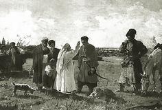 Козацьке село , козаки , картина  запорізькі козаки , мати проводжає козака на війну, пісня любо братці любо любо братці жить