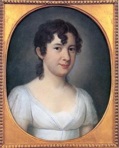 Marianne Jung. Pastell von Johann Jacob de Lose, 1809.