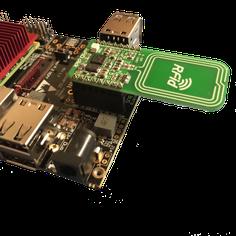 HummingBoard-GateにClickBoard(RFID)を装着したところ