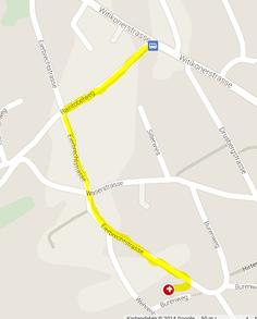 Fussweg ab Bushaltestelle Drusbergstrasse bis zur Liegenschaft Eierbrechstrasse 68, in welcher sich die ASTROLOGISCHE GESELLSCHAFT ZÜRICH befindet. Der Fussweg dauert insgesamt ca. 6 - 7 Minuten.