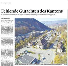 Solothurner Zeitung vom 30. April 2020