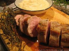 Mignon de porc en fagot de thym et de romarin