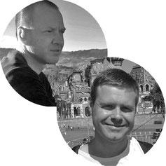 Rainer Müller und Robert Leichsenring sind Stadtführer in Potsdam