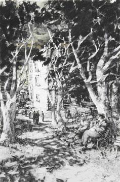 """""""Saschas Erinnerung II"""", Kohle und Pastell auf Papier, 90 × 60cm, 2019"""