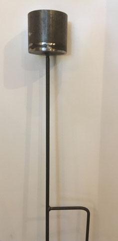 Fackel auf Spieß, Toilettenpapier: Produktionsschule Wilhelmsburg, Charitymarket.de, fair und nachhaltig, handgearbeitet, Garten, Gartenfackel, Metallfackel