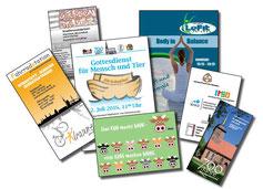 Grafik Produktionsschule Altona, Charitymarket.de, fair und nachhaltig, Gestaltung, Layout, Logoentwicklung, Drucksache, Flyer, Visitenkarte, Poster