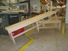 Große Sitzbank: Produktionsschule Barmbek, Charitymarket.de, fair und nachhaltig, handgearbeitet, Wohnen, Möbel, Sitzgelegenheit, Holz, Holzbank, Holzmöbel