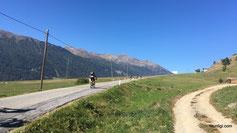 nun gehts teilweise am Etschradweg rauf zum Reschensee