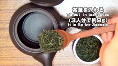 Organic tea in Kawane (Shizuoka prefecture) Taruwaki-en To put in tea leaves(9g for 3 people)
