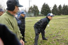 三塁塁審の指導