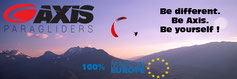 Les parapentes de la gamme Axis Paragliders