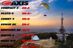 Découvrez la gamme de parapente Axis