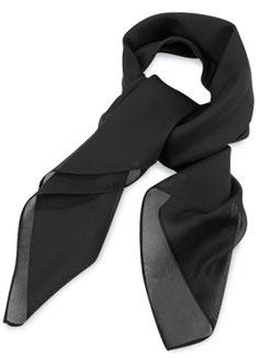Dames Sjaal Zwart Polyester
